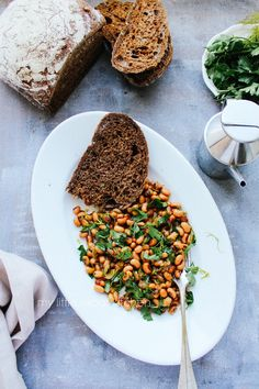 Black eyed bean salad with spices and herbs