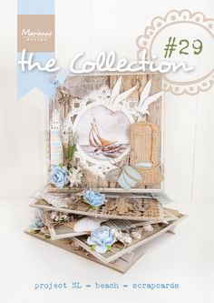 The collection #29 Beach Creatables, Mattie's Mooiste Beach decoupage, Vintage decoupage, Rustic Wood, Project NL, Frame collectables, Enamel dots, Border stamps, Craftable Punch dies