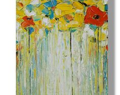 Oil Abstract Painting Yellow Painting Oil Painting Modern Painting Contemporary Painting Palette Knife Painting Oil Artwork Painting