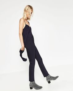Image 4 of HIGH WAIST SKINNY TROUSERS from Zara