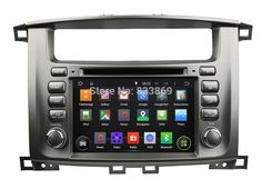"Quad Core Android 5.1 HD 2 din 7"" car Radio dvd gps for Toyota Lander Cruiser 100 With 3G wifi Bluetooth TV USB DVR Mirror link #Affiliate"