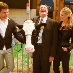 Peter, Gene, Walter and Olivia...love the cow.  The cow is priceless