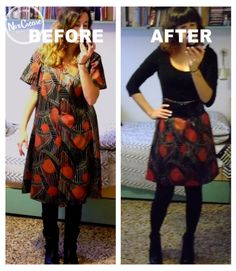 DIY- NoxCreare: Come fare una gonna - Refashion Before-After