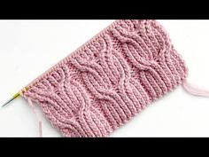 Knitting Stiches, Knitting Videos, Baby Knitting Patterns, Knitting Designs, Crochet Stitches, Hand Knitting, Stitch Patterns, Crochet Baby Poncho, Crochet Mittens