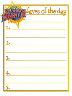 Islands of Adventure - IOA - faves of the day - Project Life Journal Card by…
