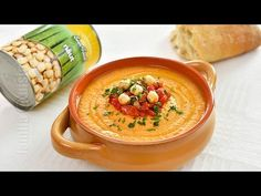 Hummus cu ardei copti | JamilaCuisine - YouTube Quick Appetizers, Recipe For 4, Tahini, Quick Meals, Cheeseburger Chowder, Hummus, Curry, Brunch, Soup