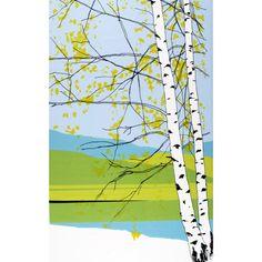 Marimekko Kaiku Green / Blue Fabric Repeat Maija Louekari's Kaiku print can easily be made into a stunning wall-hanging or duvet cover. With a lovely birch tree amidst a stunning, spring landscape, the colors of the Marimekko Kaiku Fabric Repe. Marimekko Wallpaper, Marimekko Fabric, Of Wallpaper, Scandinavian Fabric, Scandinavia Design, Illustration, Hanging Wall Art, Wall Mural, Shopping