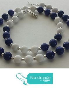 Blue Howlite and White Mountain Jade, Silver-Plated Necklace https://www.amazon.com/dp/B01GVRQEHI/ref=hnd_sw_r_pi_dp_NYTwxbH6A7J3F #handmadeatamazon