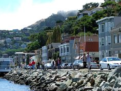 Sausalito, a beautiful little town located on the other side of the Golden Gate Bridge in California!