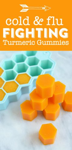 These healing DIY turmeric gummies will fight cold, flu and inflammation! from @dearcrissy