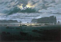 Caspar David Friedrich - The North Sea in Moonlight