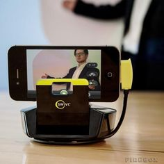 This is insane... Want! Swivl turns you into a master iPhone filmmaker (follow motion, cool, gadget, great idea, electronic, movie, film, making, automatic, sensor, 360 panorama view)
