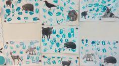 Diy And Crafts, Arts And Crafts, Preschool Kindergarten, Primary School, Diy Art, Winter, Teaching Ideas, Etchings, Animales