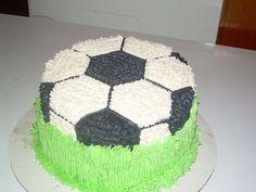 Soccer Ball Cake by blackmarketcakes, via Flickr