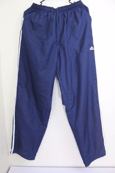 adidas climaproof men  pants (L) Large blue 100% polyester pre-owned EUC #adidas