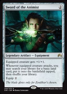 Sword-of-the-Animist-FOIL-x1-Magic-the-Gathering-1x-Magic-Origins-mtg-card-NM