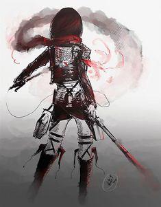 Zerochan anime image gallery for Attack on Titan (Shingeki No Kyojin), Mikasa Ackerman. Manga Anime, Manga Art, Anime Art, Mikasa, Levi X Eren, Armin, Levi Ackerman, Fanart, Anime Quotes Tumblr