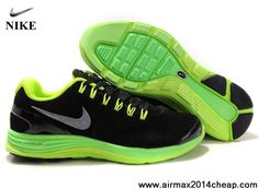 Sale Cheap Nike LunarGlide 4 Suede Anthracite Volt Silver Mens 524977-010 Shoes Store