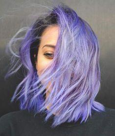 Hair Color Purple, Cool Hair Color, Short Purple Hair, Short Dyed Hair, Dyed Hair Purple, Purple Hair Styles, Short Pastel Hair, Pastel Hair Colors, Light Purple Hair