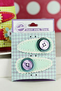 Felt Barrettes by Erin Lincoln for Papertrey Ink (February 2013)