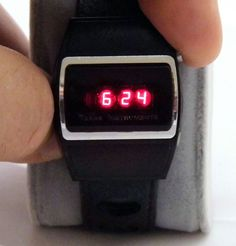 Vintage Texas Instruments Series 500 Men's Red LED Digital Wrist Watch, Circa 1970s