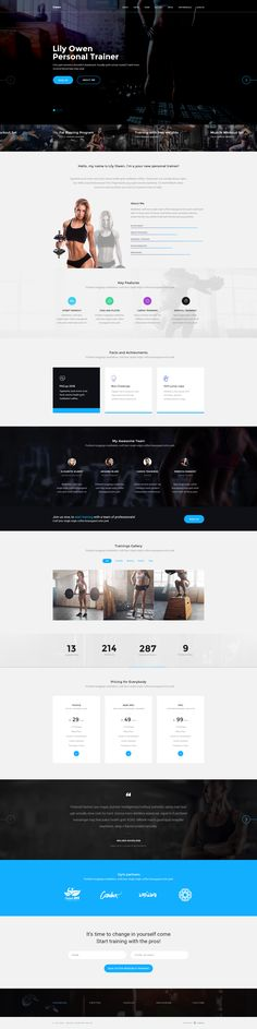 Owen is a universal PSD template for yoga trainer, personal crossfit trainer…