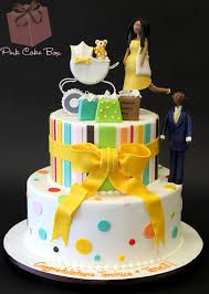 neutral baby shower cakes - Google Search