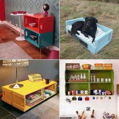 4 ideias diferentes para reciclagem de caixas de fruta