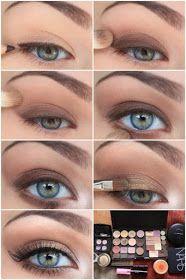Brown and gold eye makeup