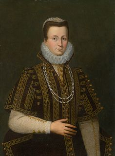 second half of 16th century Unknown artist - Portrait of a woman with white ruff
