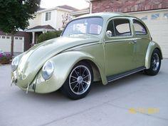 VW Beetle, Cal look. 4-inch narrowed beam