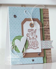 Patterned Paper : Joy to the World