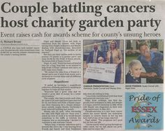A piece published in the Essex Chronicle today- To nominate please visit our website http://prideofessexawards.org.uk/