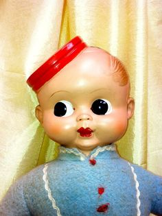 Celluloid Head Bell Boy Stuffed Palitoy, England Doll Carnival Prize Doll 1930s