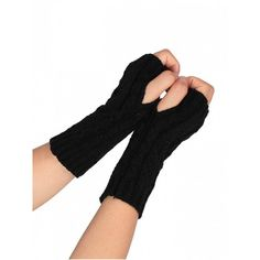 Hollow Out Crochet Knitted Fingerless Gloves Black ($2.75) ❤ liked on Polyvore featuring accessories, gloves, fingerless gloves, crochet fingerless gloves and crochet gloves
