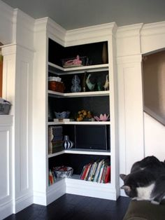 Try black paint in built-ins to make objects really pop.
