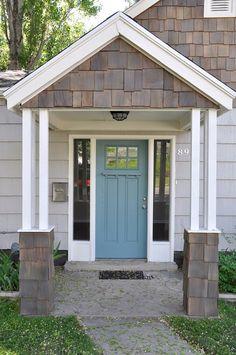 Grey, stain, blue door Lindsay Redd Design