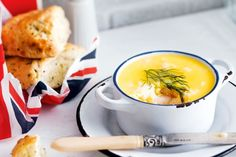 Potted prawns with herb scones main image