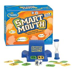 Smart Mouth: The quick-thinking, shout it out word game! Smart mouth is the quick-thinking word game where players go head-to-head in a fast-paced, hilarious free-for-all. Play individually or in teams. (Ages 8 to Adult) Call number: TA 38 66 2010