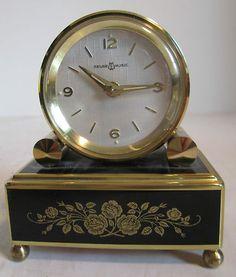 Vintage Swiss REUGE music box alarm clock