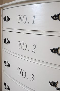 Cottage White  Anthropology Style Dresser  by Daniscustomdesigns