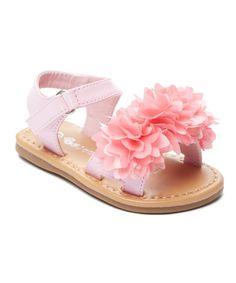 Pink Floral Pom-Pom Sandal