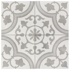 Ivy Hill Tile Sintra Silver Ornate Encaustic 9 in. x 9 in. x Mate Porcelain Floor and Wall Tile pieces / sq. / - The Home Depot - Web 2020 Best Site Bathroom Floor Tiles, Wall Tiles, Tile Floor, Kitchen Tile, Kitchen Flooring, Bathroom Basin, Shower Floor, Green Kitchen, Small American Kitchens