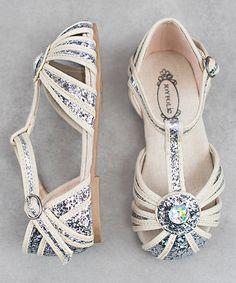White & Silver Hazel Closed-Toe Sandal - Kids #zulily #zulilyfinds