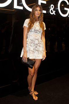 The 50 Best Little White Dresses: Bianca Brandolini in Dolce & Gabbana