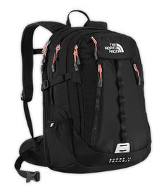 Shop The North Face® Women's Surge II Transit Backpack North Face Backpack, Black Backpack, North Face Women, The North Face, School Backpacks, Women's Backpacks, Mobile Office, Back To School, School Stuff
