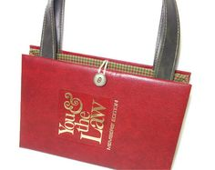 Want!!!! You and the Law Book Purse  Book Handbag by retrograndma on Etsy, $49.99