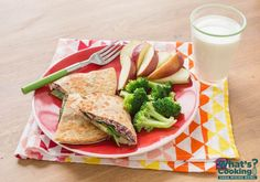 Red Bean Quesadilla #veggies #grains #MyPlate #WhatsCooking