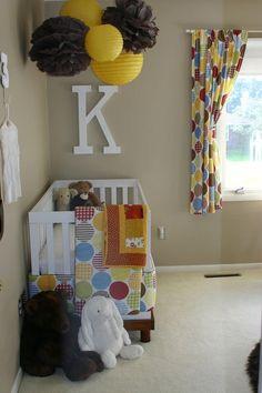 Baby room theme: Orange and Blue