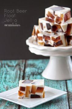 How fun is this??? Root Beer Float Jello from Pint Sized Baker
